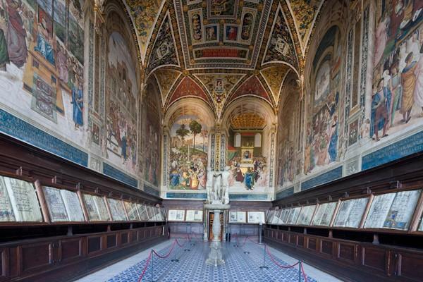 The Piccolomini Library in Siena