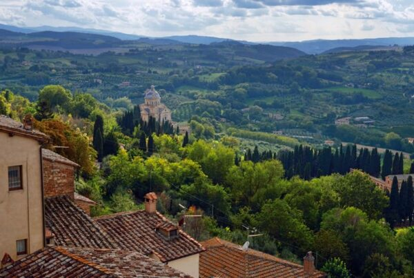 View from Montepulciano, visit