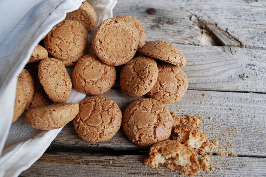 Italian amaretti biscuits, from Italy