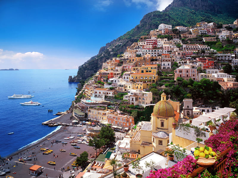 positano sea village in italy